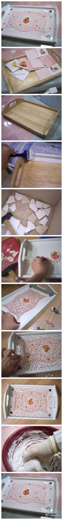 déco Mosaique avec carrelage ou assiettes cassés