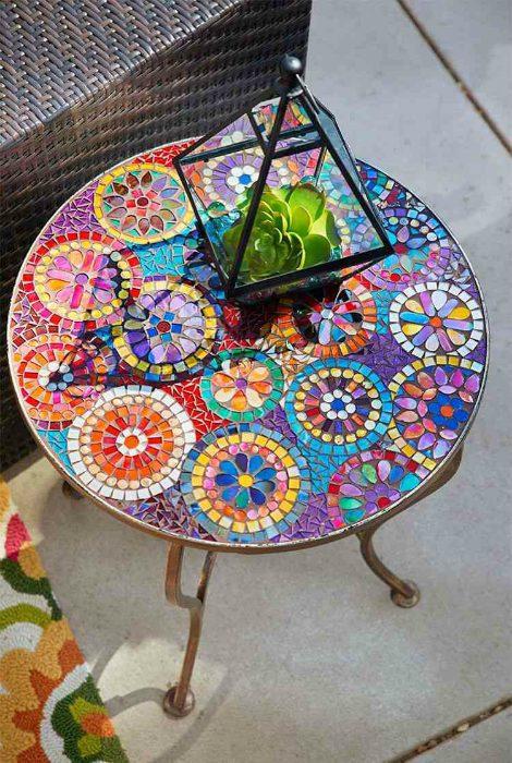 20 idées déco Mosaique avec carrelage ou assiettes cassées!