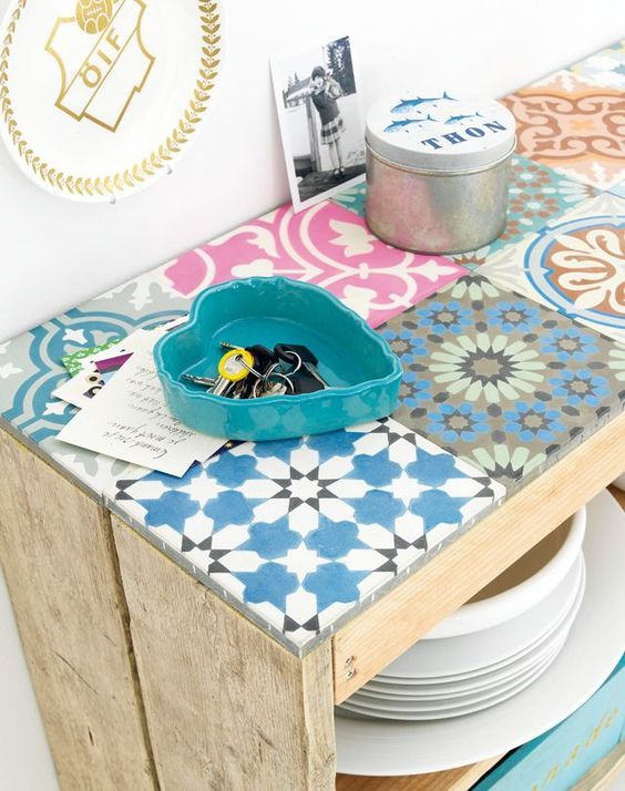 déco Mosaique avec carrelage ou assiettes cassées