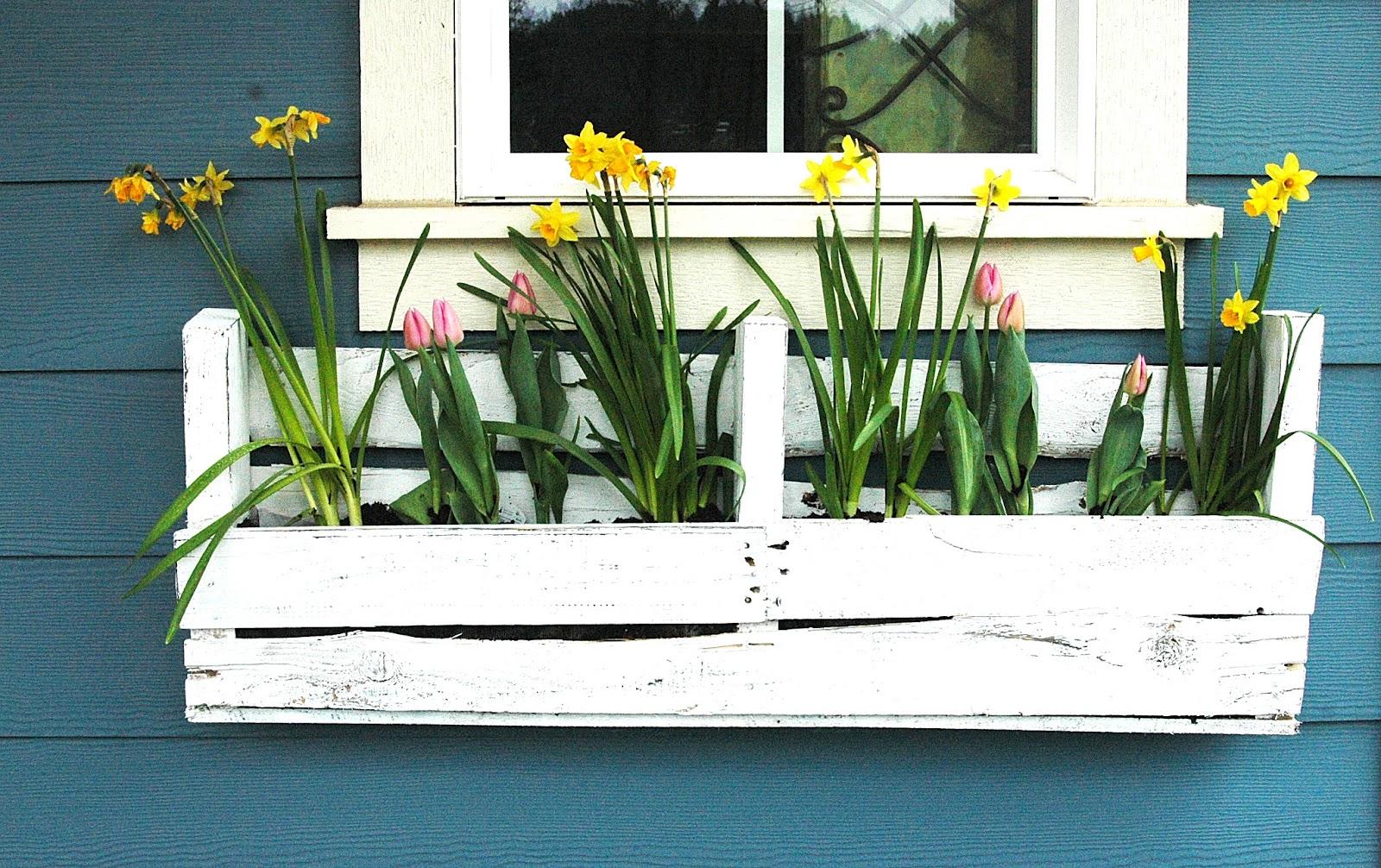 bac à fleurs en bois de palette. 20 idées inspirantes à faire soi