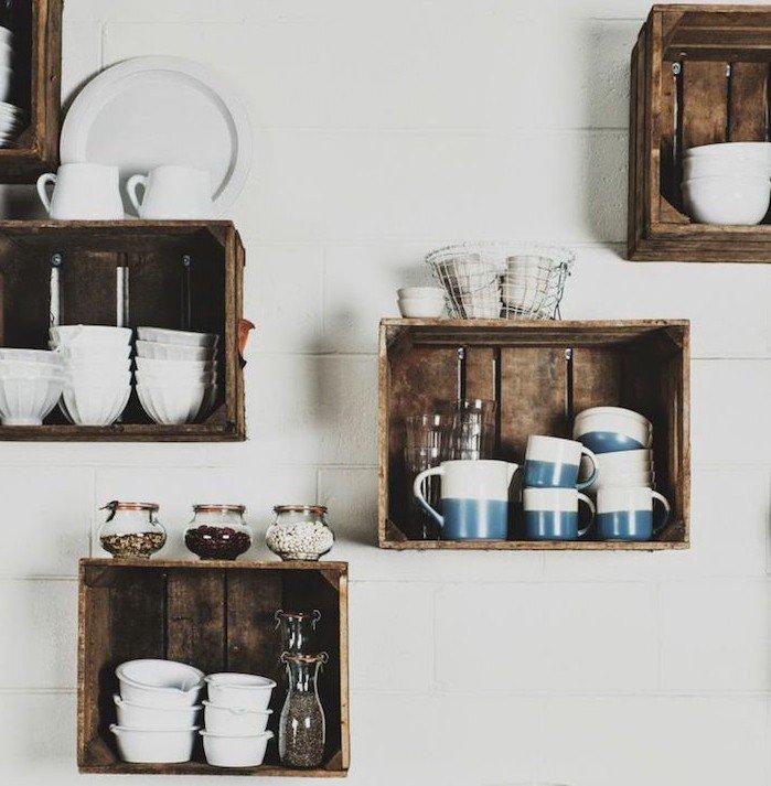 tag res d co avec des cagettes en bois 20 exemples. Black Bedroom Furniture Sets. Home Design Ideas