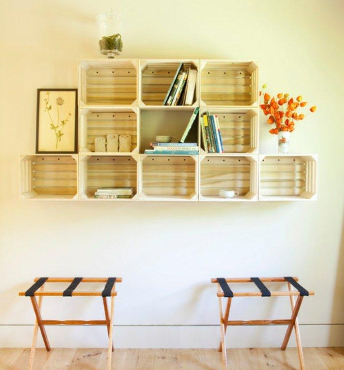 Tag res d co avec des cagettes en bois 20 exemples inspirants - Que faire avec des cagettes de clementines ...
