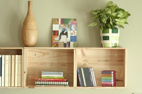 tag res d co avec des cagettes en bois 20 exemples inspirants. Black Bedroom Furniture Sets. Home Design Ideas