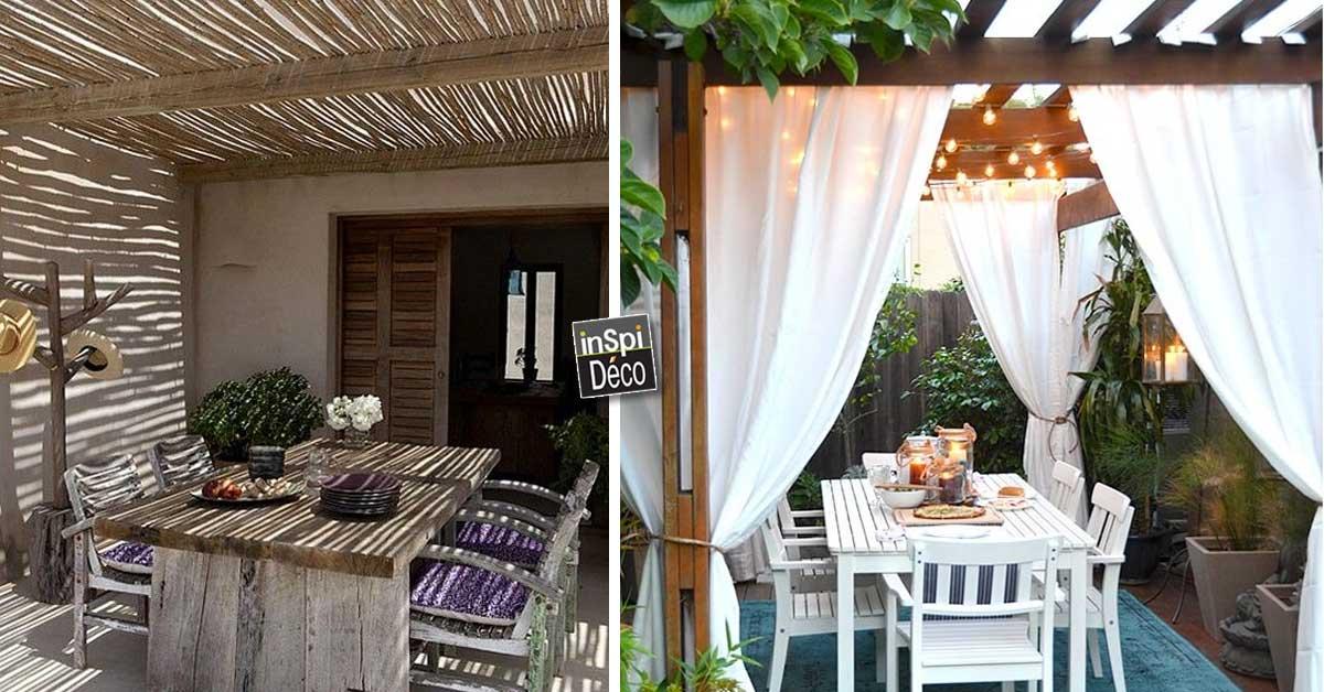 Un petit coin repas dans son jardin! 20 exemples magnifiques...