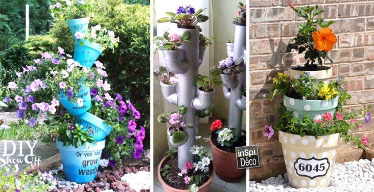 colonne-de-fleurs-jardin