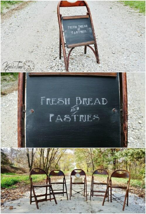 Récupérer une vieille chaise