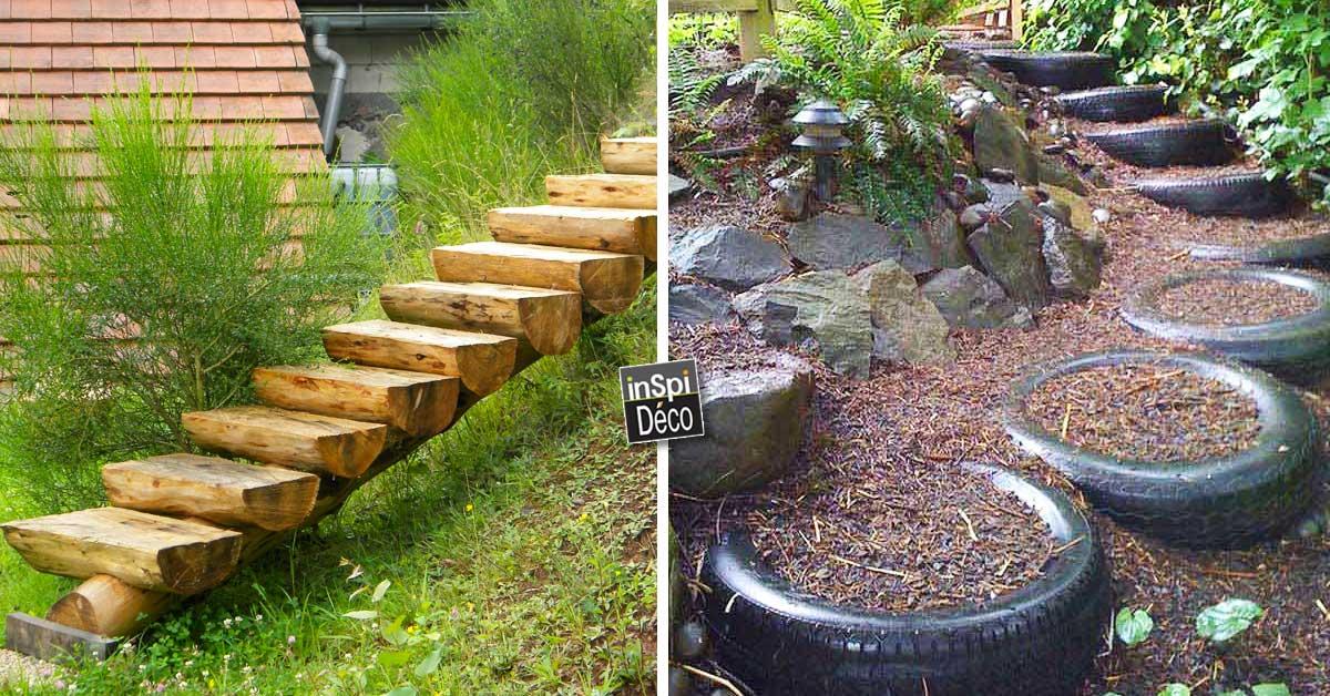Réaliser des escaliers dans son jardin! Voici 20 idées pour vous ...