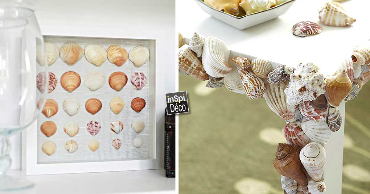 Cr ations avec des coquillages pour sublimer votre int rieur 20 id es - Decoration coquillage mer ...