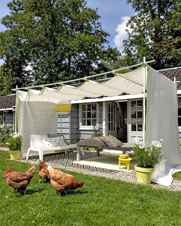 Cr er une zone d 39 ombre dans son jardin 20 id es diy pour for Avoir une poule dans son jardin