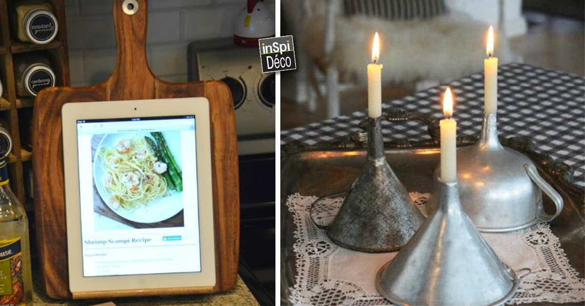 recycler vieux ustensiles de cuisine 27 id es pour vous. Black Bedroom Furniture Sets. Home Design Ideas