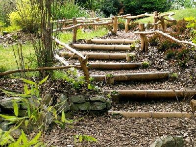 Réaliser des escaliers dans son jardin