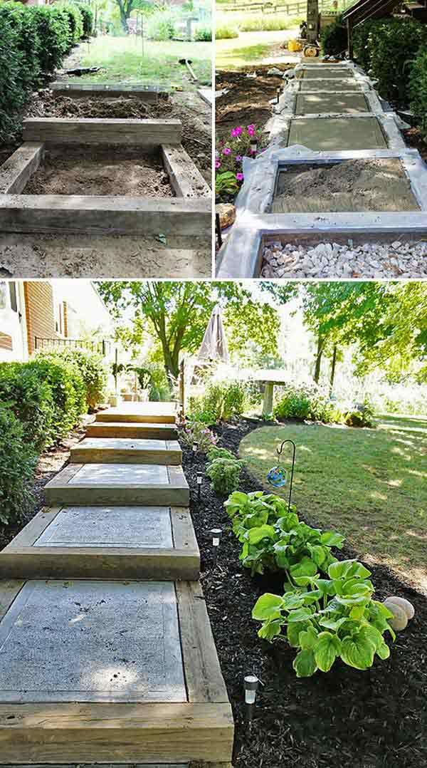 R aliser des escaliers dans son jardin voici 20 id es for Realiser son jardin