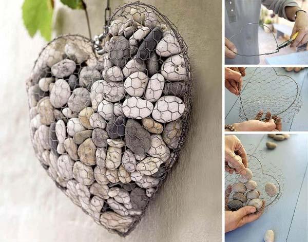 Déco jardin avec pierres et cailloux - Idée