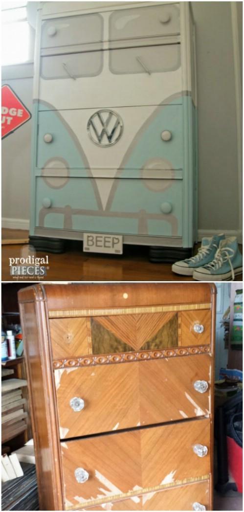 Restyling vecchio mobile con la vernice