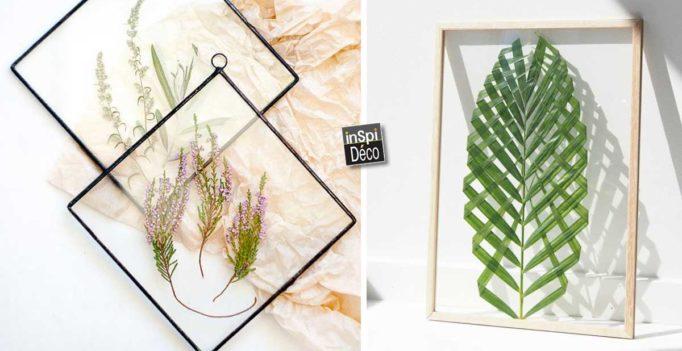 Réaliser un cadre avec feuilles ou fleurs! 22 idées déco pour vous ...