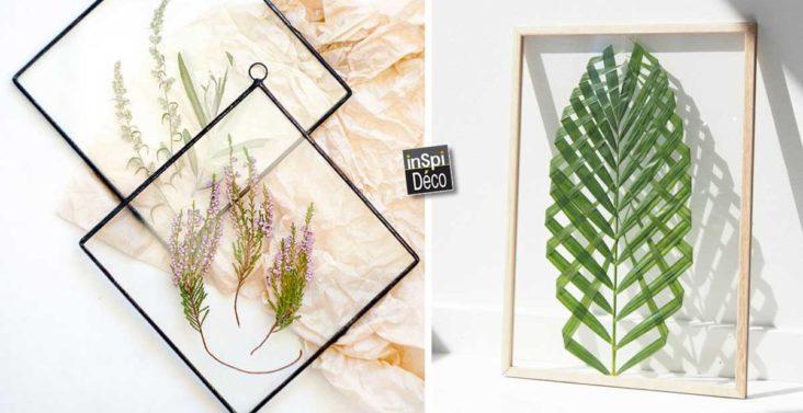 cadre-diy-avec-feuilles-et-fleurs