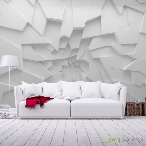d corer avec du papier peint effet 3d grand r sultat 20 superbes id es. Black Bedroom Furniture Sets. Home Design Ideas
