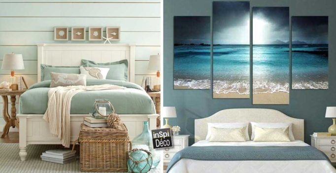 une t te de lit ambiance bord de mer 20 id es pour vous. Black Bedroom Furniture Sets. Home Design Ideas