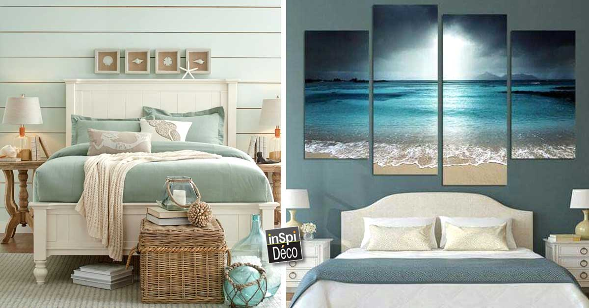 une t te de lit ambiance bord de mer 20 id es pour vous inspirer. Black Bedroom Furniture Sets. Home Design Ideas