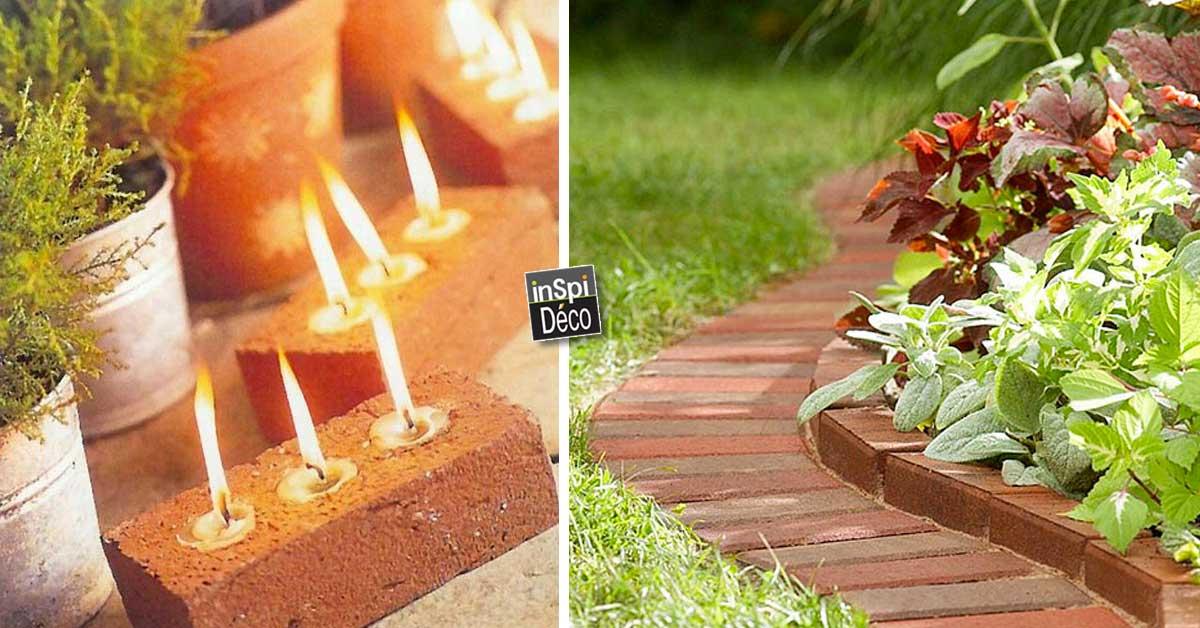 d co avec des briques pour le jardin voici 20 id es. Black Bedroom Furniture Sets. Home Design Ideas
