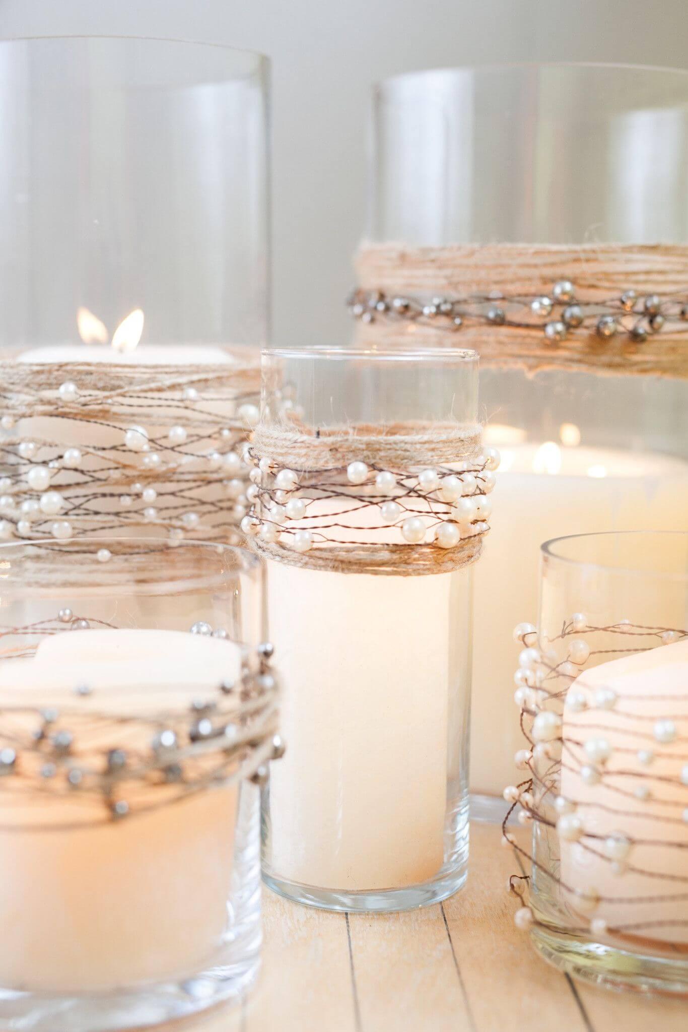 Decorare casa con le candele