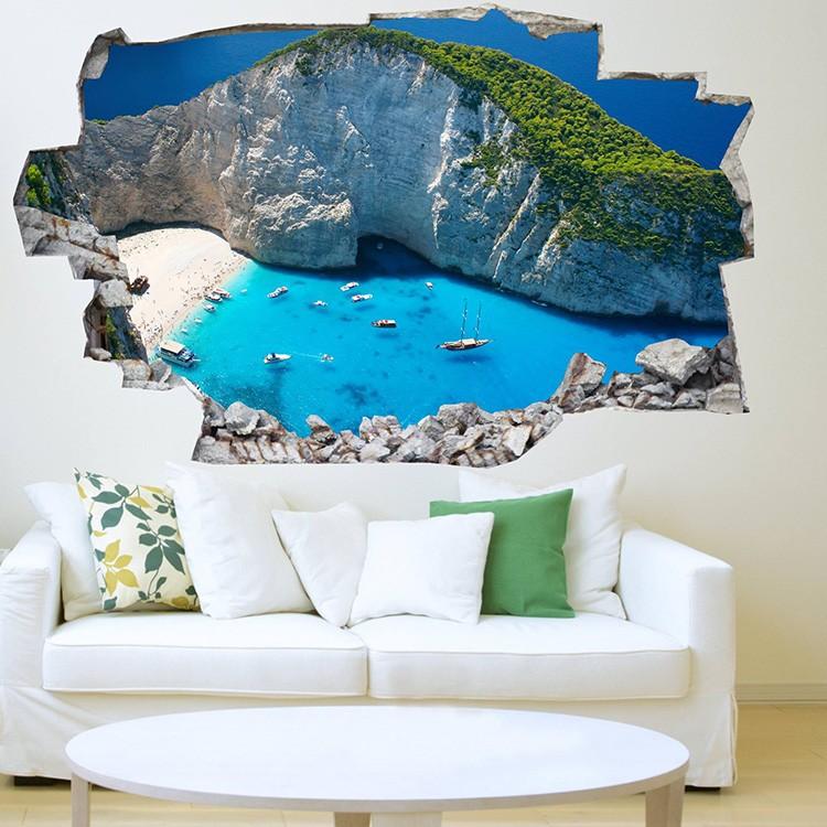 Decorare una parete di casa con gli adesivi murali 3D
