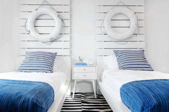 Créer une tête de lit ambiance bord de mer