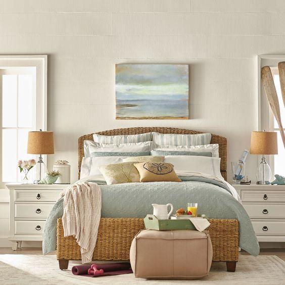 Bedroom Decoration Pictures Bedroom Furniture Drawings Simple Apartment Bedroom Decor Bedroom Black Bed: Une Tête De Lit Ambiance Bord De Mer! 20 Idées Pour Vous