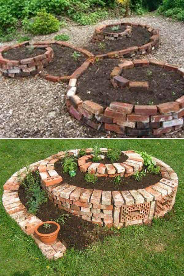 D co avec des briques pour le jardin voici 20 id es for Organiser jardin