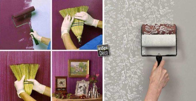 donner un effet original votre peinture voici 15 astuces tr s simples. Black Bedroom Furniture Sets. Home Design Ideas