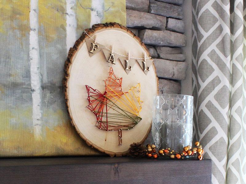DIY avec des rondelles de bois