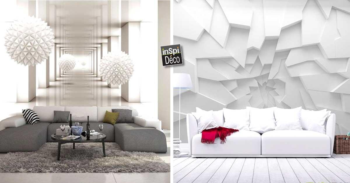 d corer avec du papier peint effet 3d grand r sultat 20 superbes id es. Black Bedroom Furniture Sets. Home Design Ideas