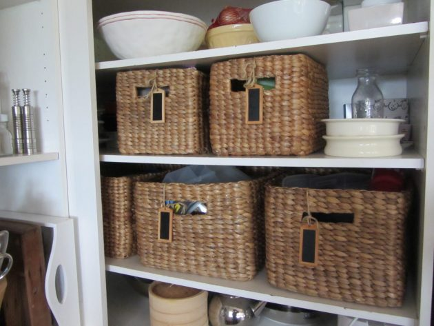 Organizzare casa con i cestini