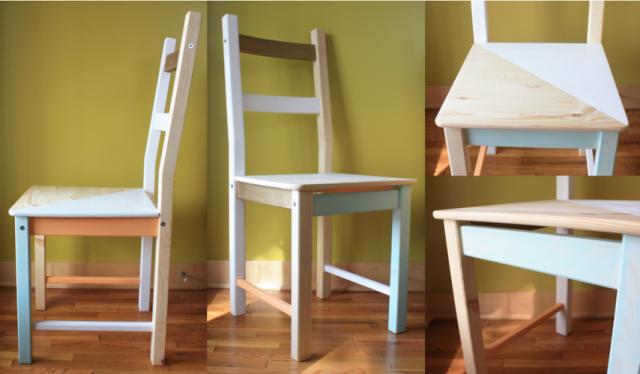 Relooking des chaises ikea ivar e stefan 20 exemples inspirants - Sedia sospesa ikea ...