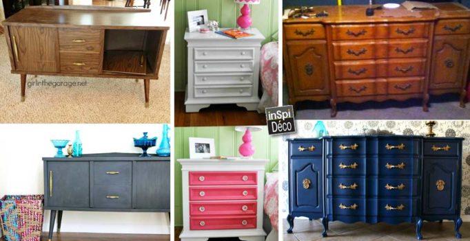 customiser un vieux meuble relooker table en bois peindre un meuble ou relooker un meuble en. Black Bedroom Furniture Sets. Home Design Ideas