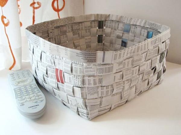 Как сделать из газеты что нибудь своими руками