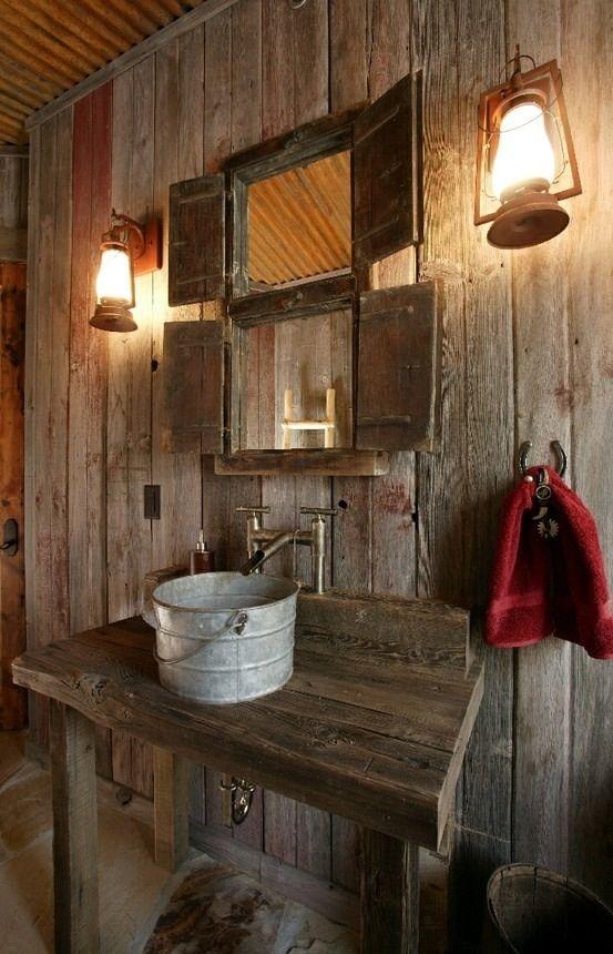 Décorer la salle de bain style campagne