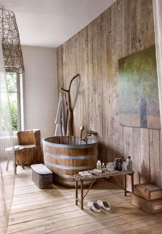 D corer la salle de bain style campagne 10 id es magnifiques - Decorer salle de bain ...