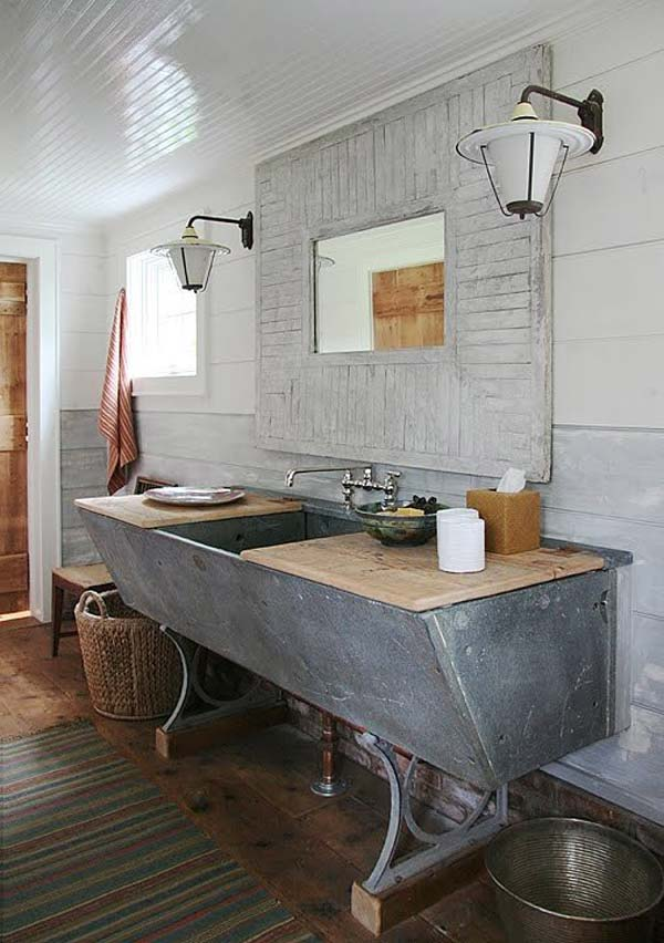 salle de bain style campagne 9