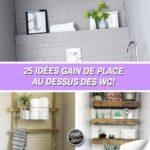 gagner de la place dans la salle de bain 25 id es au dessus des wc. Black Bedroom Furniture Sets. Home Design Ideas