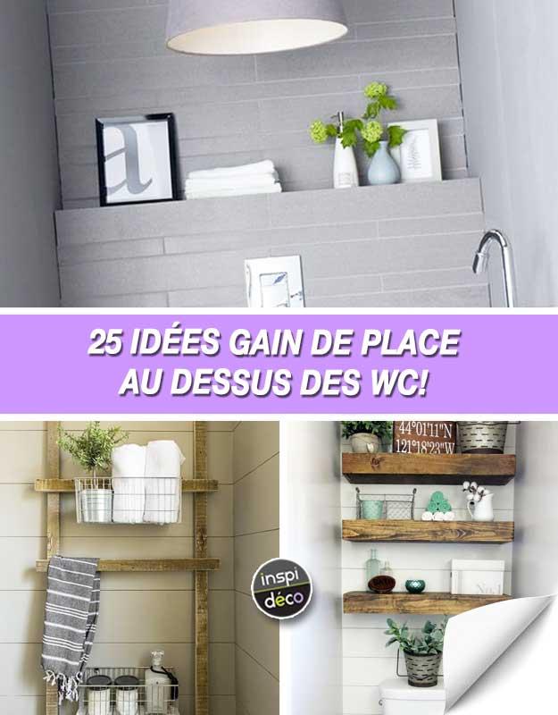Gagner de la place dans la salle de bain 25 id es au for Idee gain de place