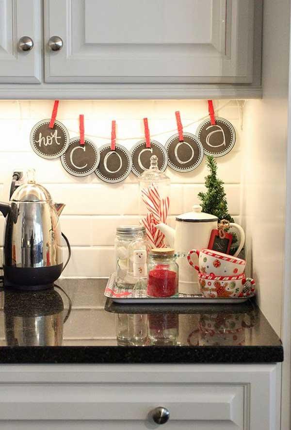 D corer sa cuisine pour noel voici 20 id es inspirez vous for Decorer sa table de noel