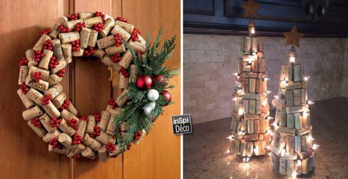 Decorations de noel avec des bouchons en liege - Decoration avec des bouchons de liege ...