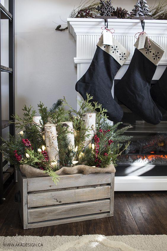 Décorer des caisses en bois pour Noel