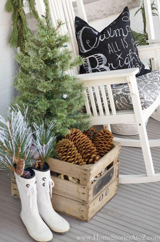 d corer des caisses en bois pour noel 16 id es inspirantes. Black Bedroom Furniture Sets. Home Design Ideas