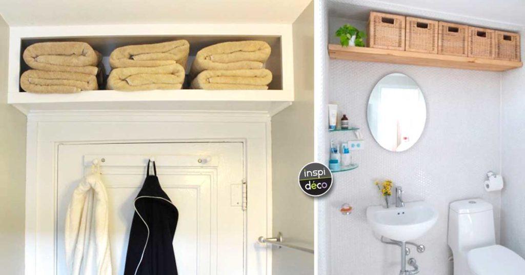Optimiser une petite salle de bain avec une étagère bien ...