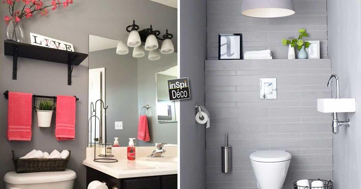 Gagner de la place dans la salle de bain 25 id es au for Petites betes dans la salle de bain