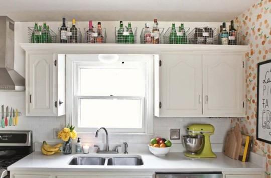 Decorare la parte superiore dei mobili cucina. Qui ci sono 20 idee ...