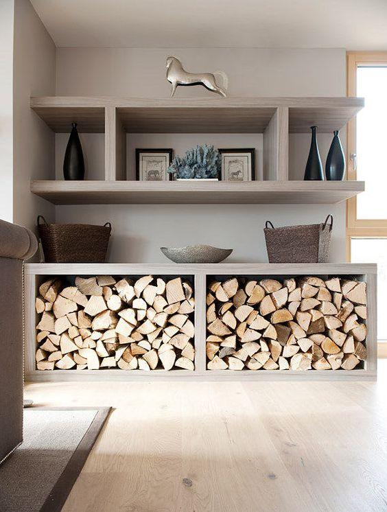 Ranger le bois dans son int rieur voici 20 id es for Interior log storage