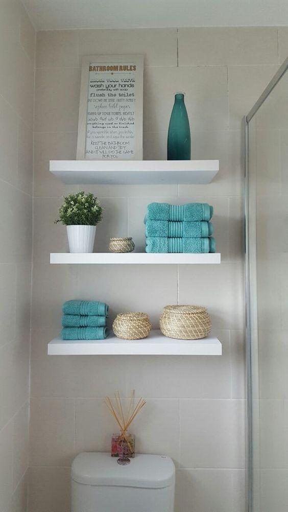 Optimiser une petite salle de bain avec une tag re bien pens e 20 id es - Idee salvaspazio bagno ...